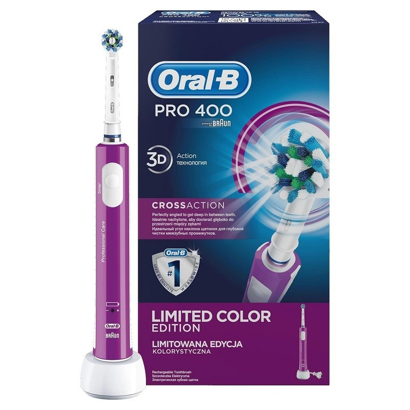 Periuta Electrica Oral-b Pro 400 Cross Action Purp