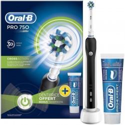 Periuta electrica Oral B PRO 750 black+PASTA