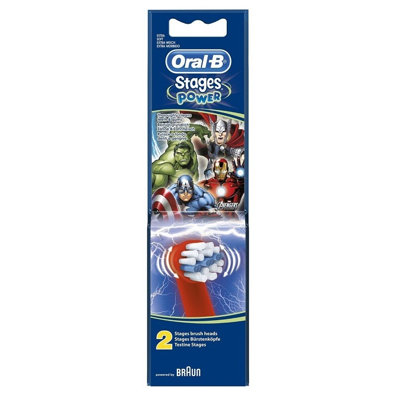 Rezerva 2 capete periuta copii Oral-B Stages Power EB10 Avengers