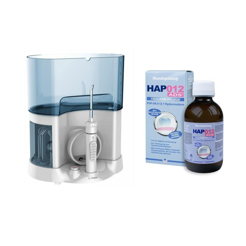 Dus bucal Countertop Water Flosser WT5000 Dr.Mayer + Apa de gura Curasept HAP 012 PVP-PA ADS 200ml