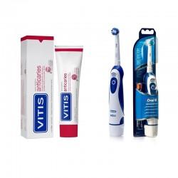 Pachet promo Periuta electrica Oral-B Advance Power DB4010 + Pasta de dinti Vitis Anticaries 100ml Dentaid