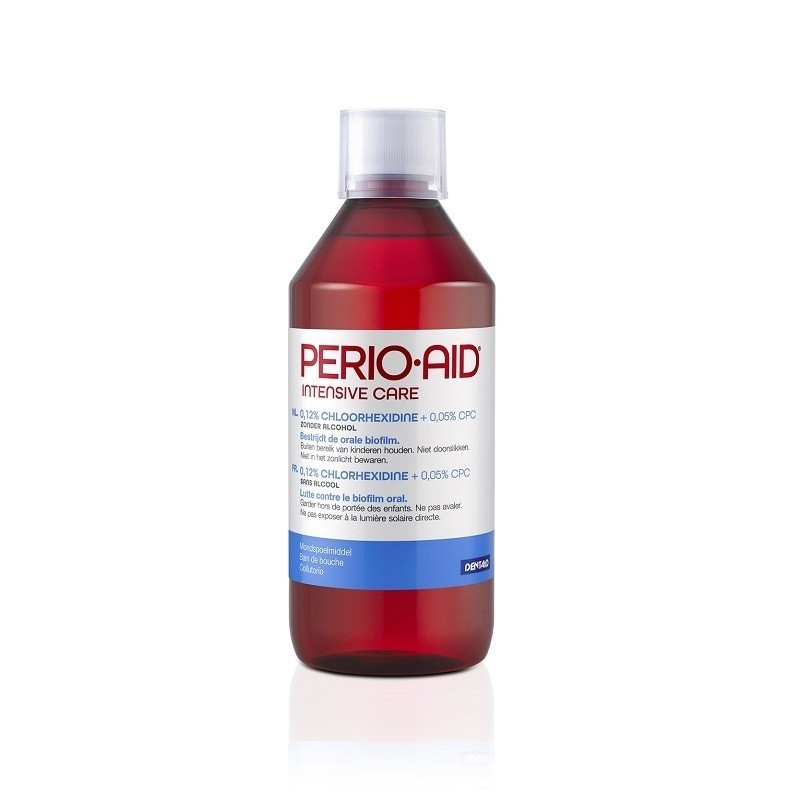 Pachet promo 2 x Apa de gura Perio-Aid Intensive Care 0.12% 500 ml Dentaid