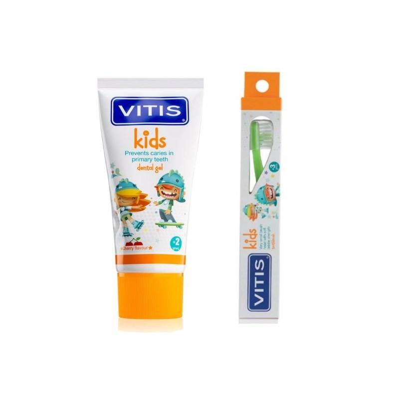 Pachet Pasta de dinti + Periuta Vitis Kids 3+ imagine oralix.ro