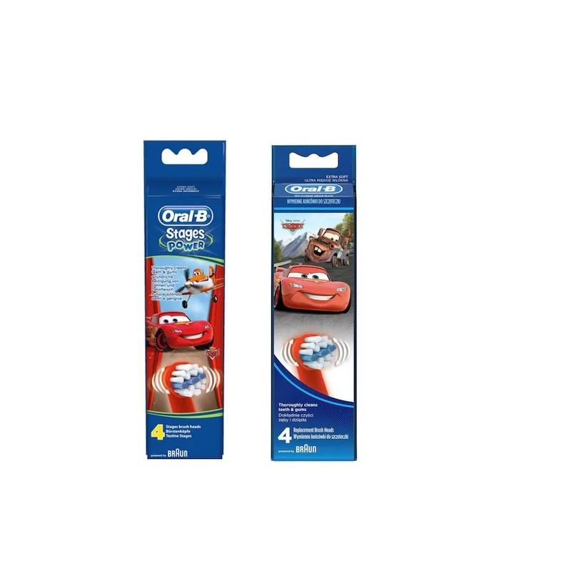 Rezerve periuta de dinti electrica ORAL-B EB10 Cars 4 bucati imagine oralix.ro