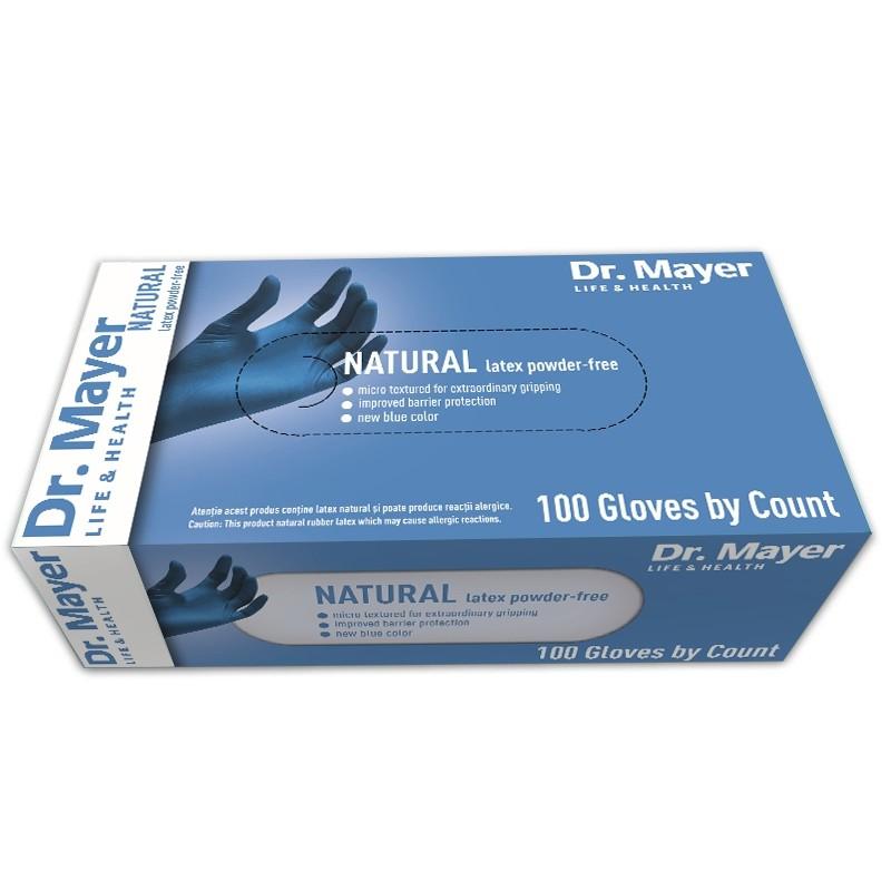 Manusi examinare latex nepudrate blue marimea L Dr Mayer 100 bucati oralix poza