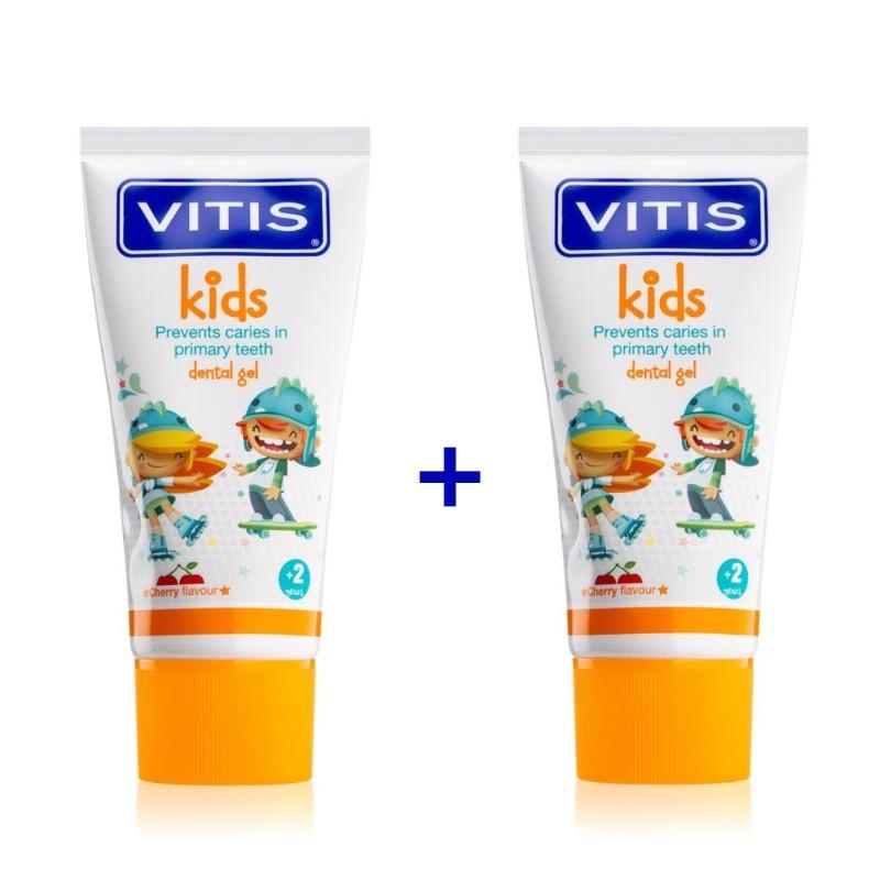 Pachet Promo 2 paste de dinti VITIS KIDS Gel 3+