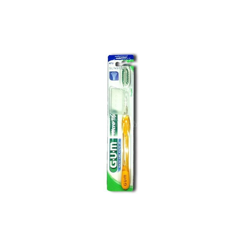 Periuta De Dinti Gum Micro Tip Medium Compact Yellow