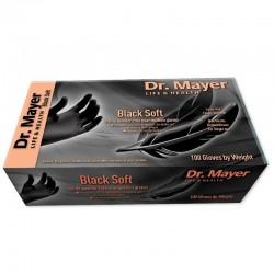 Manusi examinare nitril negre soft marimea L Dr.Mayer