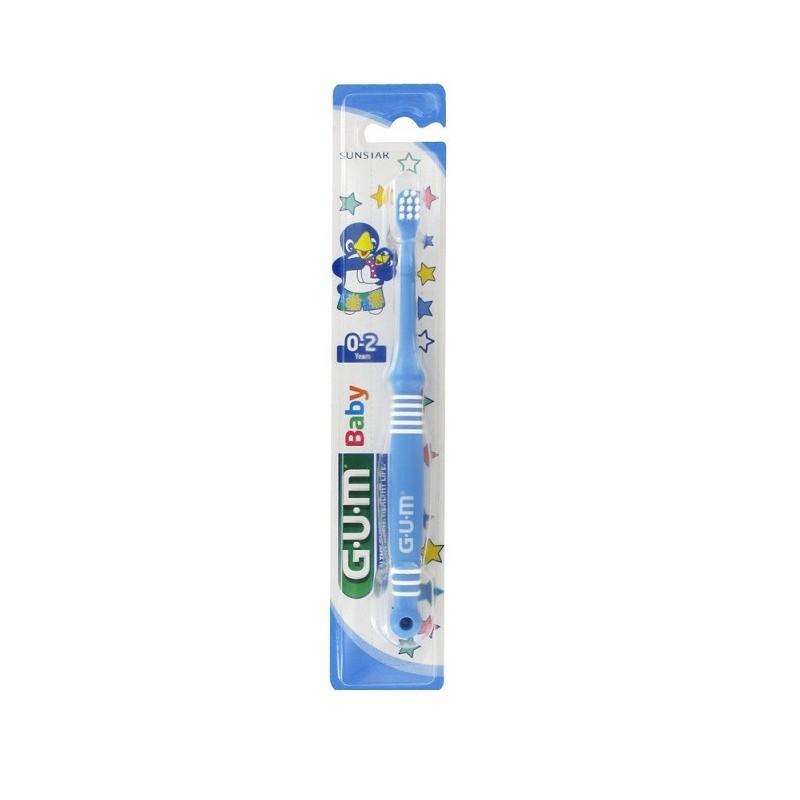 Periuta de dinti GUM Baby 0-2 Ani Ultra Soft Blue