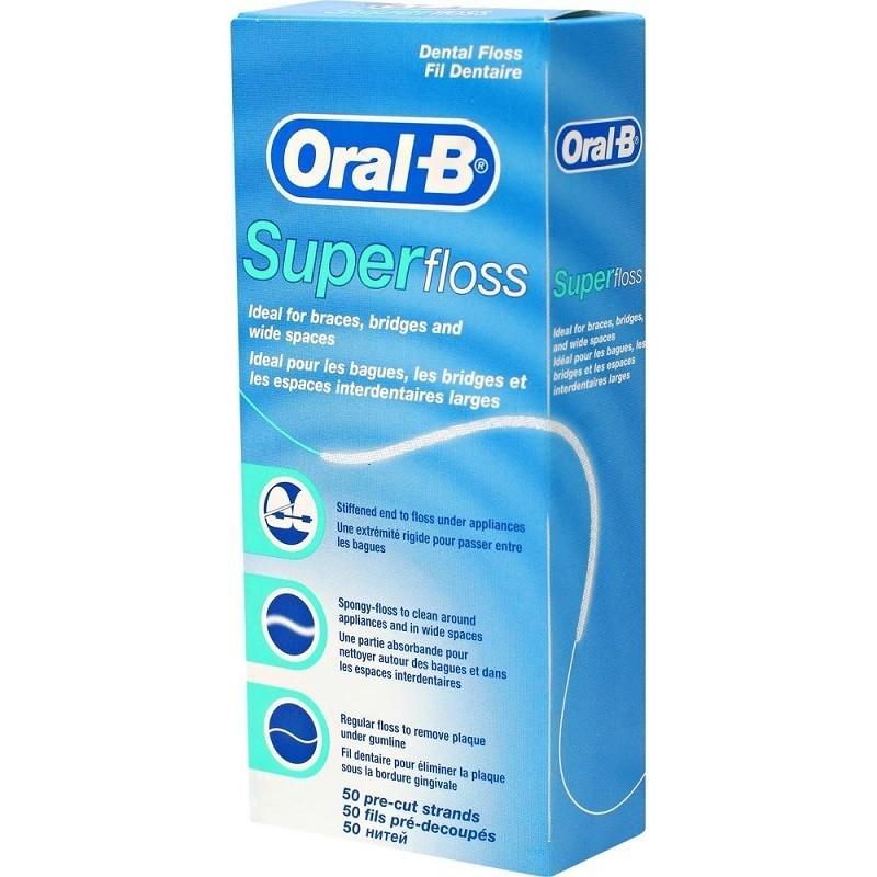 Matase dentara Oral-B Superfloss 50m oralix poza