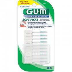 Accesorii GUM Soft Picks regular with Fluoride 40 picks