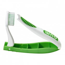 Periuta de dinti GUM Travel Brushes Travel , Soft, Antibacterial coated, Green