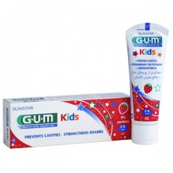 Pasta de dinti GUM Kidstoothpaste 2-6 Ani, 50Ml + Color Book