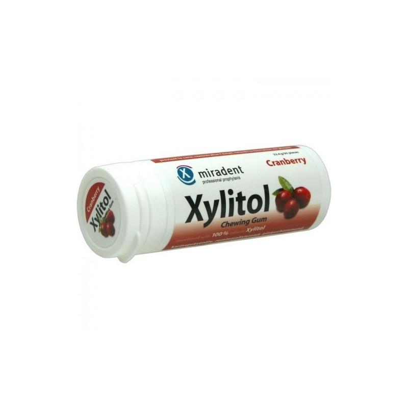 Xylitol Merisoare 30 Pastile Miradent