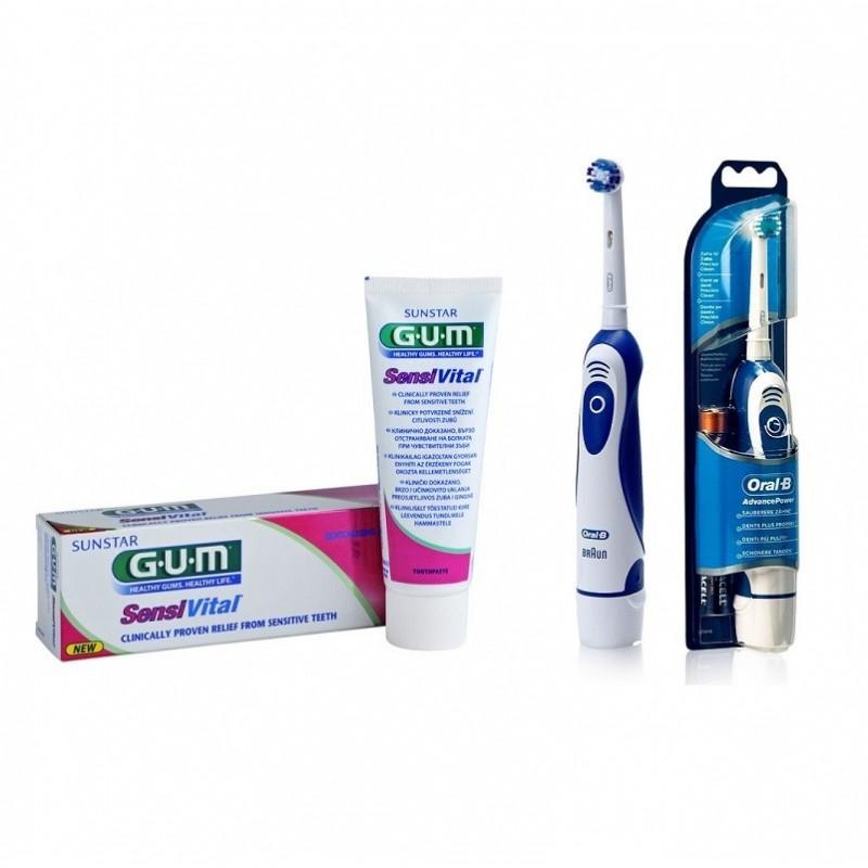 Periuta Electrica Oral-b Advance Power Db4010 + Pasta De Dinti Gum Sensivital 75ml