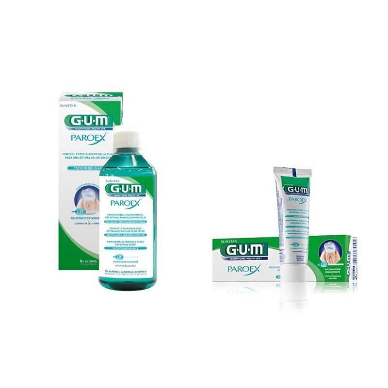 Pachet Promo Gum Paroex 0.06% Chx + 0.05% Cpc