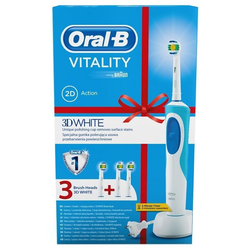 Periuta Electrica Oral-b Vitality 3d D12-513w + 3 Rezerve