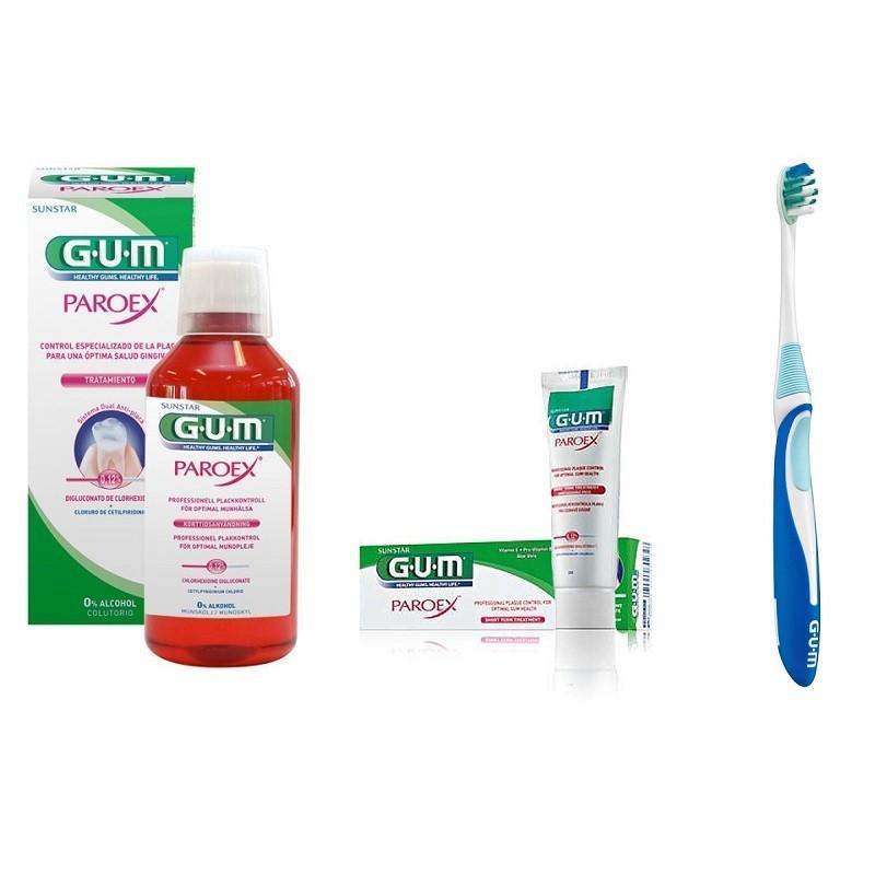 Pachet Gum Paroex + Periuta De Dinti Gum Activital